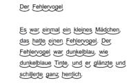 Text mit Silbenbögen